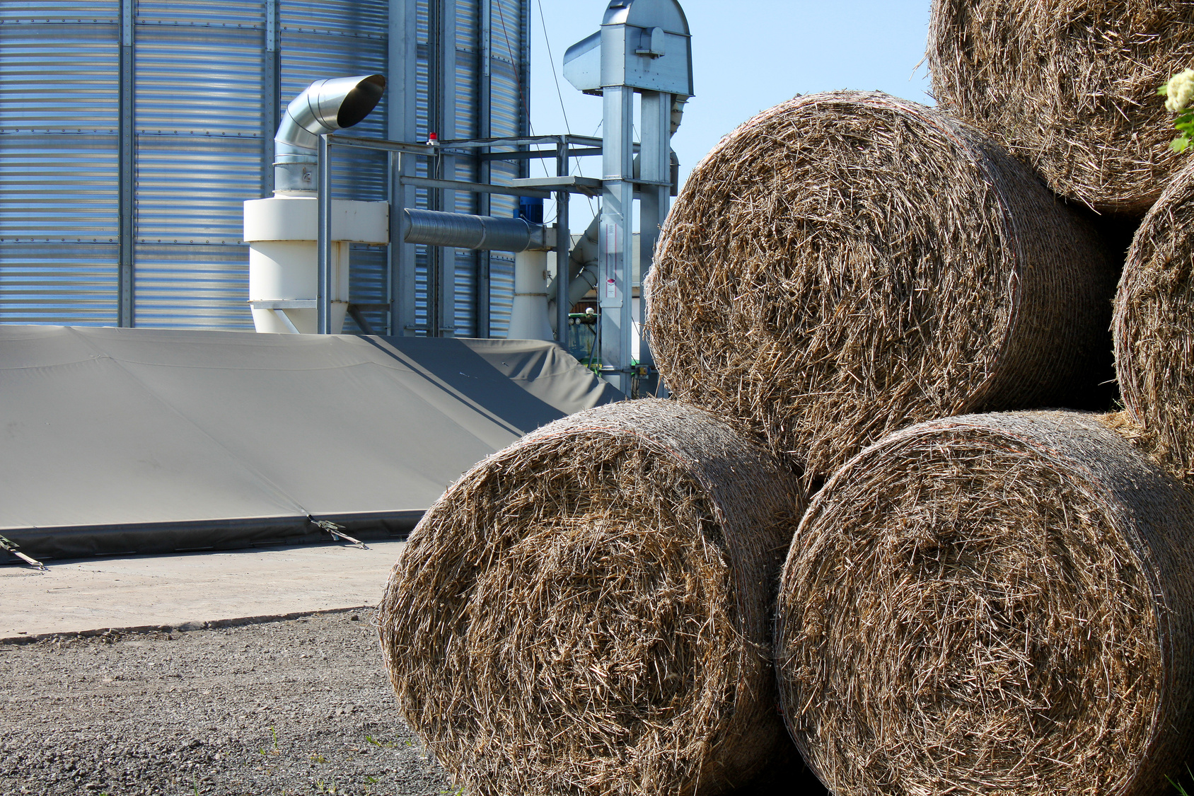 Before putting hay in the silo, it needs to be checked thoroughly for moisture content.