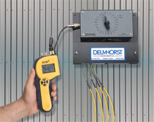 Delmhorst's KIL-MO-TROL in-kiln moisture monitoring system makes getting readings of lumber in the kiln a snap.