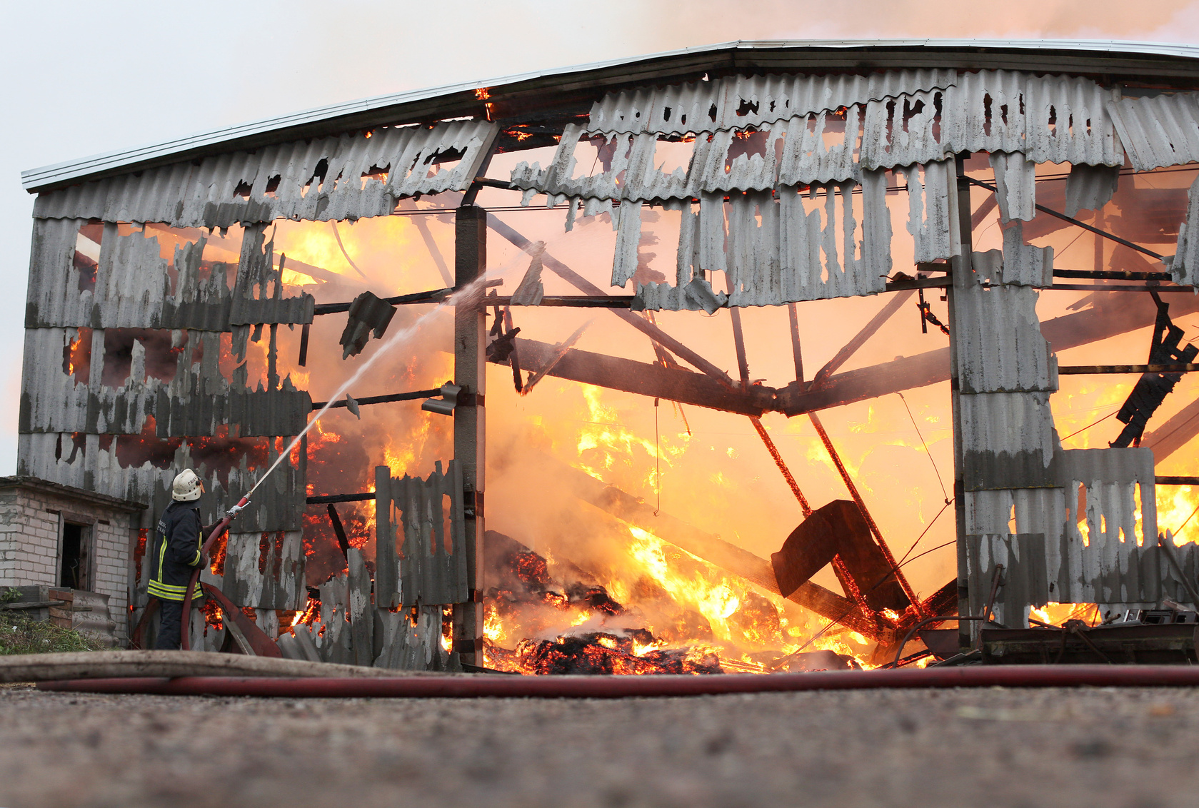 When hay's moisture content is too high, it can actually combust, causing fires and even explosions.