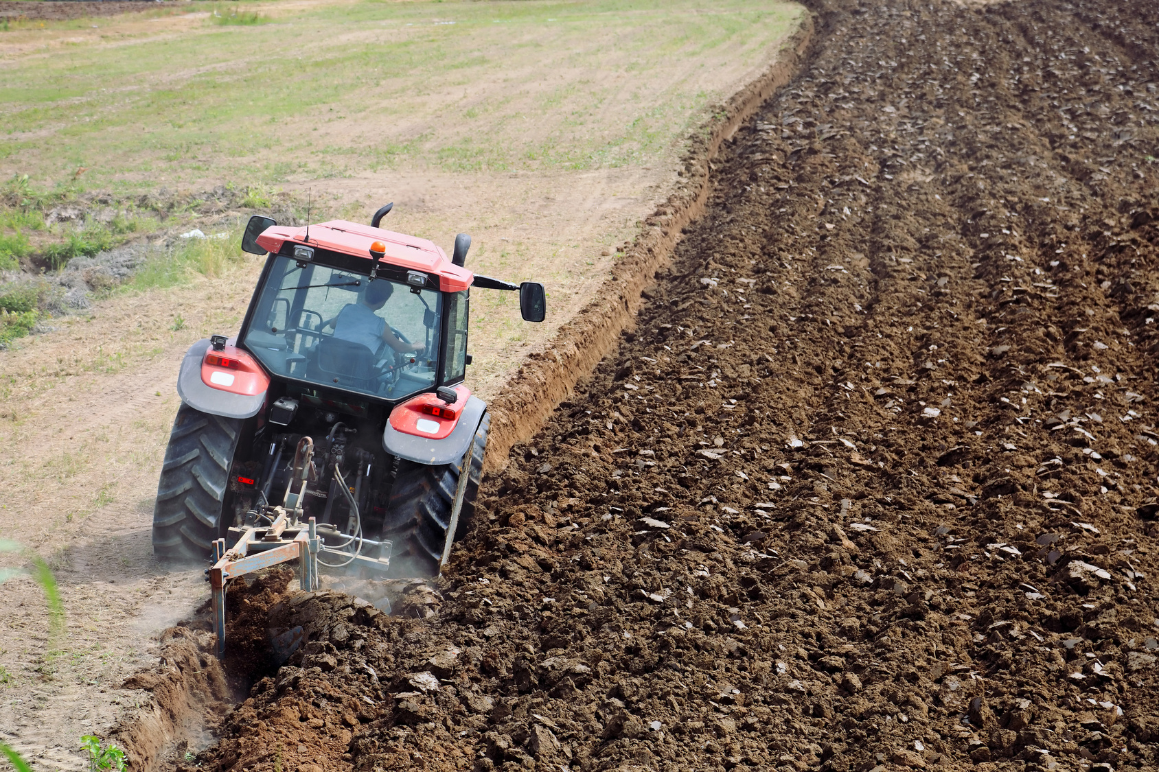 Before the invention of the tractor, plowing fields was done by hand or by using animal-drawn plows. As technology improves, so do our methods for farming.