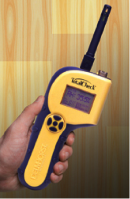 Meters such as the Total Check 3-in-1 system combine multiple moisture meter functions to allow you to get the benefits of many different kinds of meters in one device.