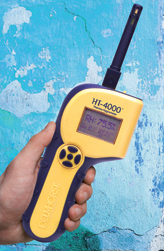 The HT-4000 is a reliable tool for testing RH in a concrete slab when combined with an RH/T-52 Sensor.