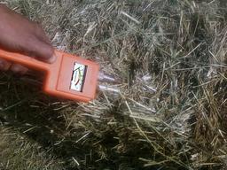 moisture meter hay stacks
