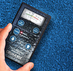 Pin-less moisture meters are great for quickly finding out the general location of a moisture pocket in a large area.
