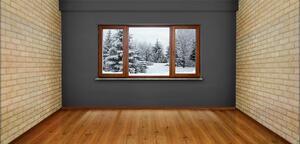 Winter wood floor