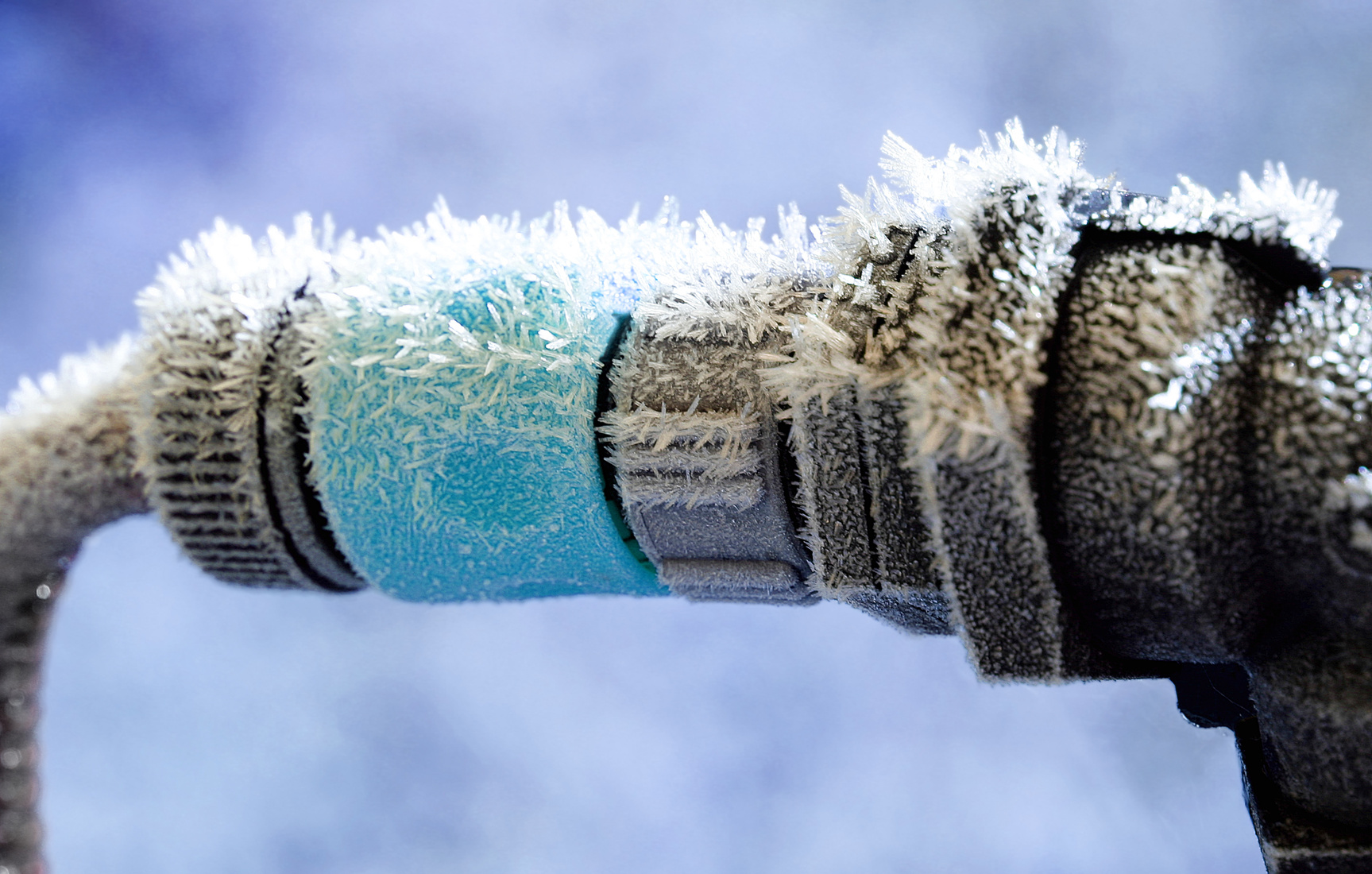Frozen pipes on the exterior of the building can be as big of a problem as ones in the interior of the building.