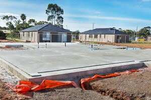 Before building on top of concrete, it is necessary to make sure that the concrete is properly cured first.