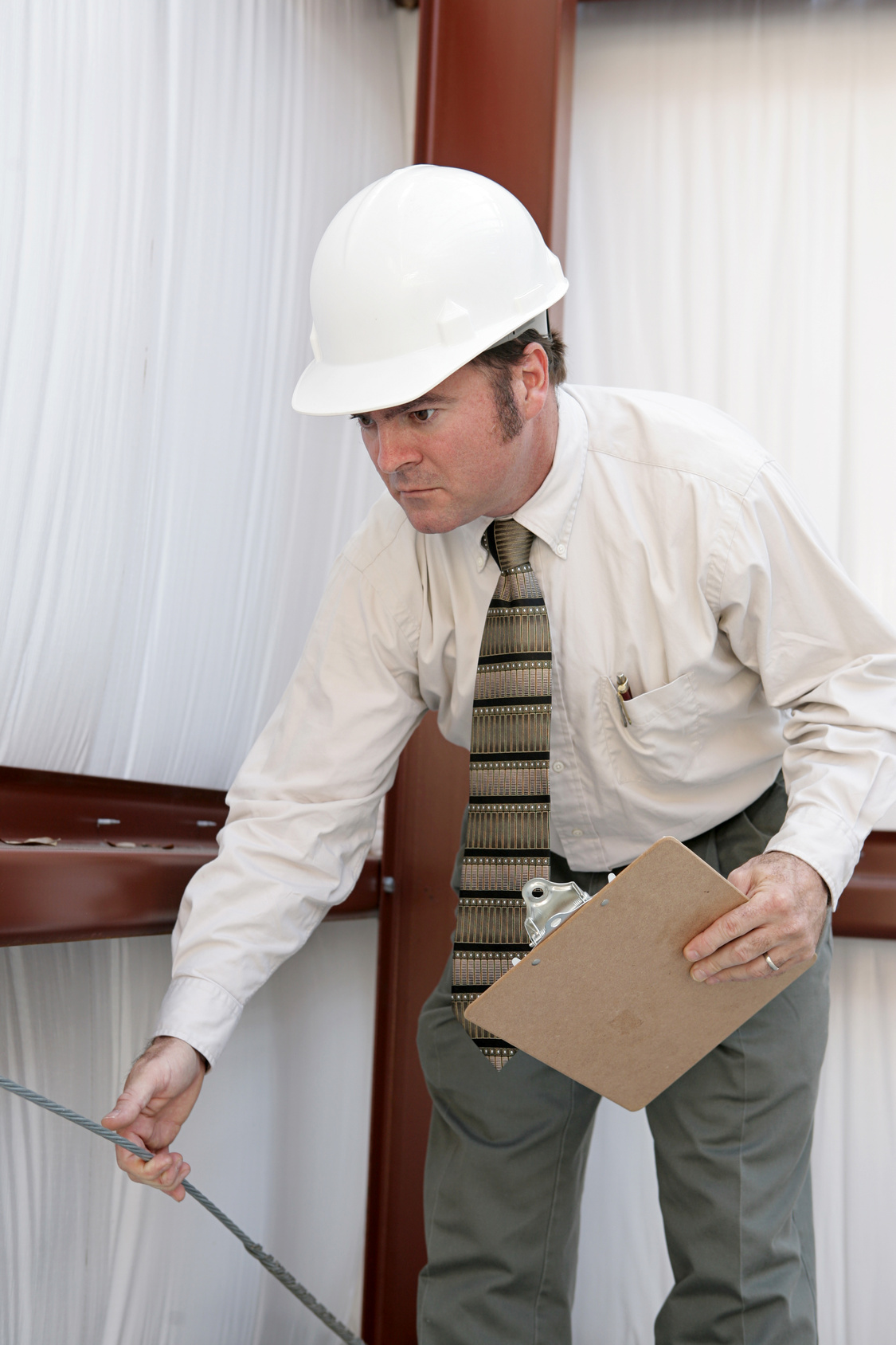 Building inspectors have to check many different materials for signs of damage or potential damage.