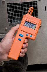 Thermo-hygrometers are useful for checking moisture in the air over a large area.