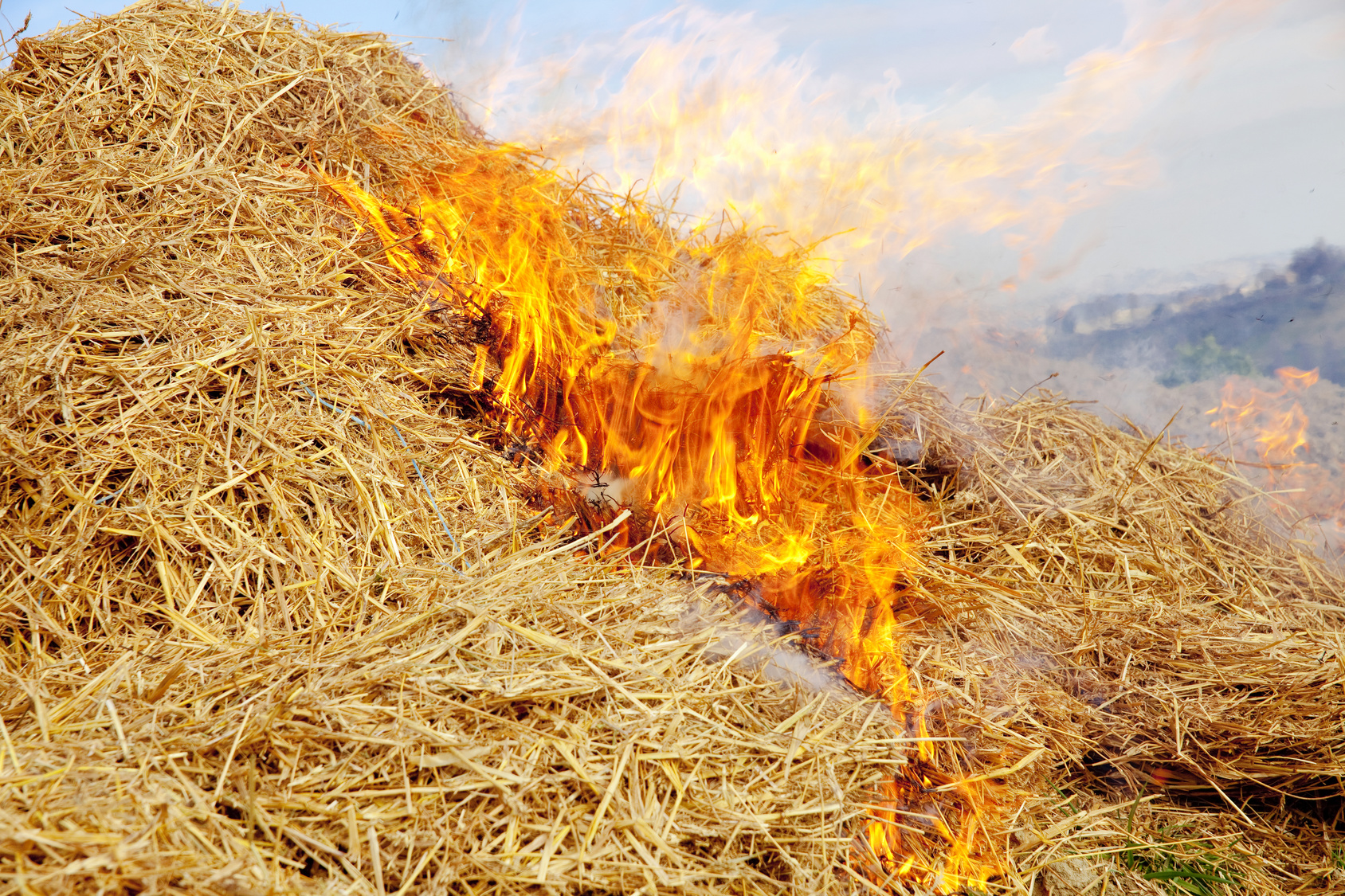 Hay on Fire