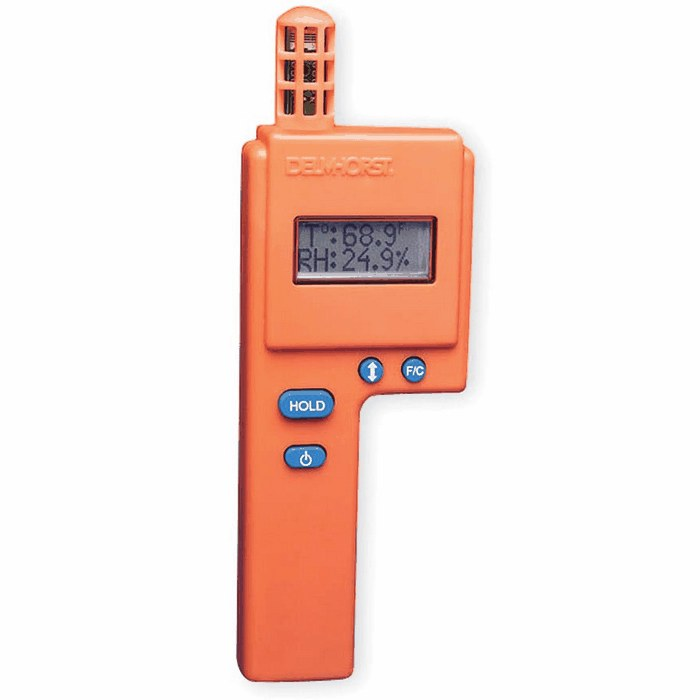 The HT-3000 Thermo-Hygrometer is a handy device for measuring the ambient conditions of a room or a concrete substrate.