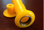 A bright yellow sleeve for installing into concrete slabs to test RH conditions.