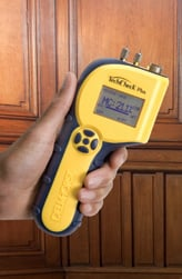 Advanced moisture meters such as the TotalCheck Plus can store readings and sort them by job for your convenience.
