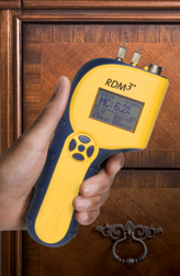 The RDM-3's built-in temperature correction feature helps it get accurate readings even when building materials are cold.