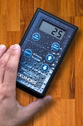 Moisture meters such as the ProScan can make verifying moisture content of flooring wood quick and easy.