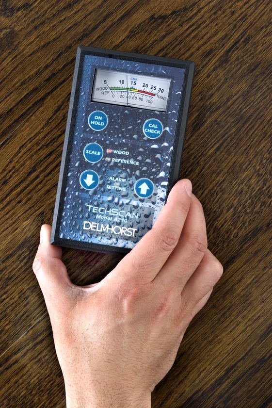 The TechScan pinless moisture meter is a restoration contractor's best friend for finding pockets of moisture in building materials quickly.