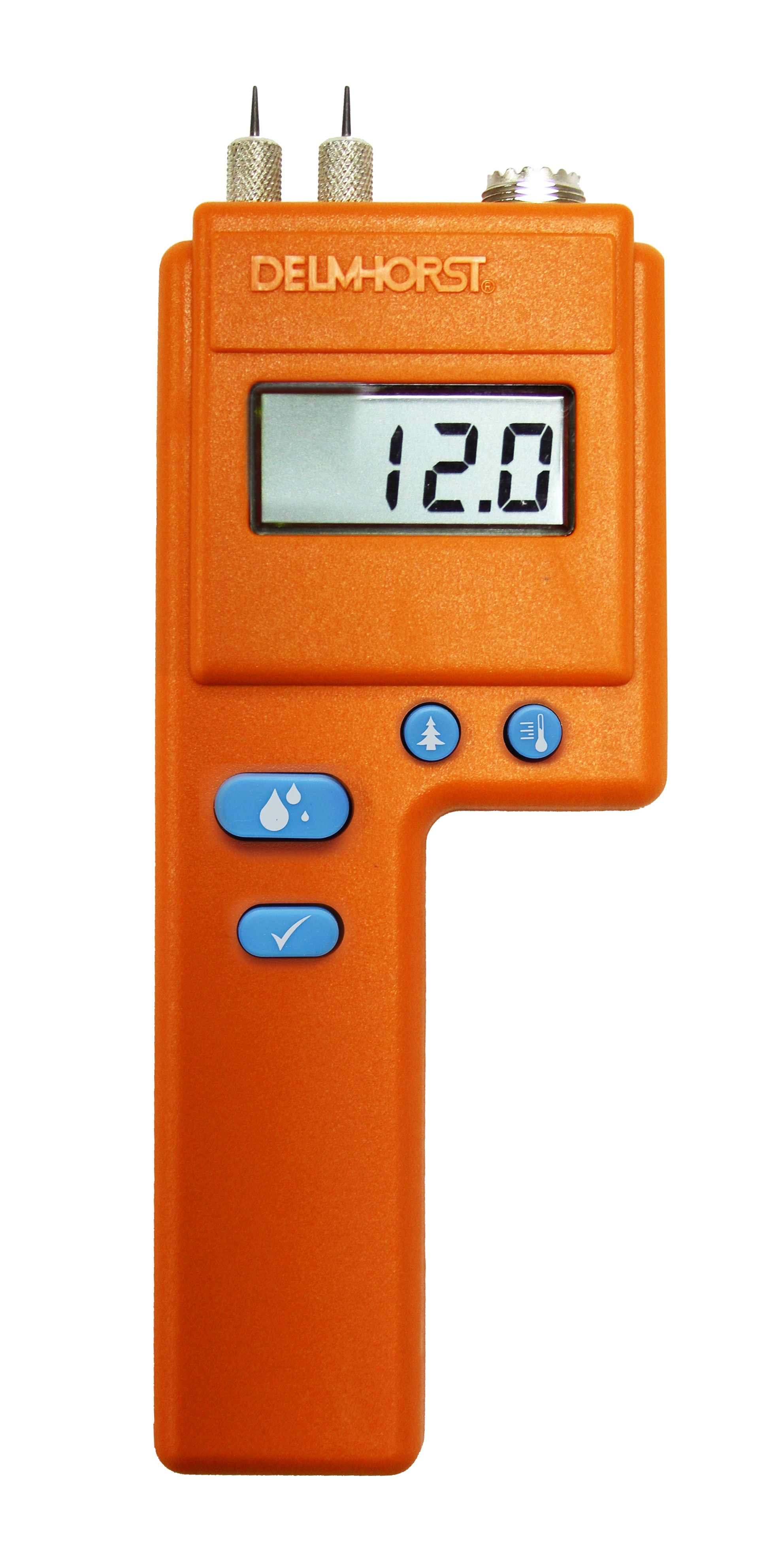 All of Delmhorst's pin-type meters have a universal probe socket that can take any specialty Delmhorst probe.