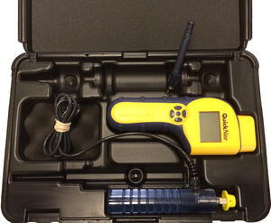 A QuickNav moisture meter combines several functions to help quickly track moisture in a structure.