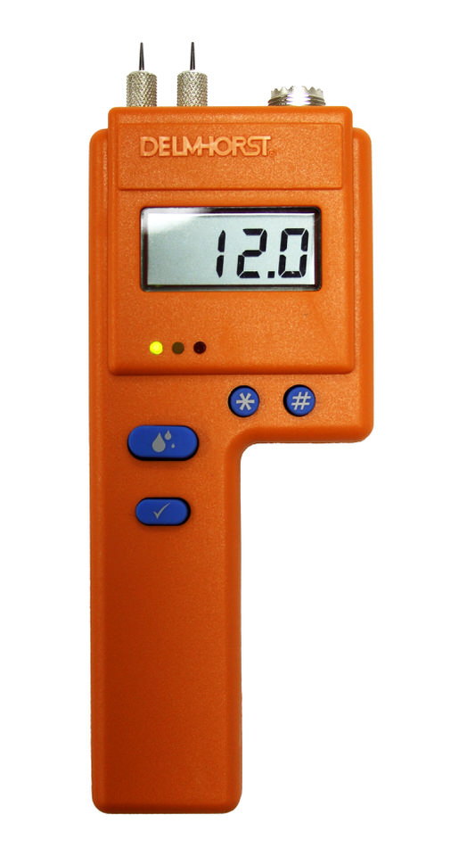 The BD-2100's orange exterior contains one powerful moisture testing tool!